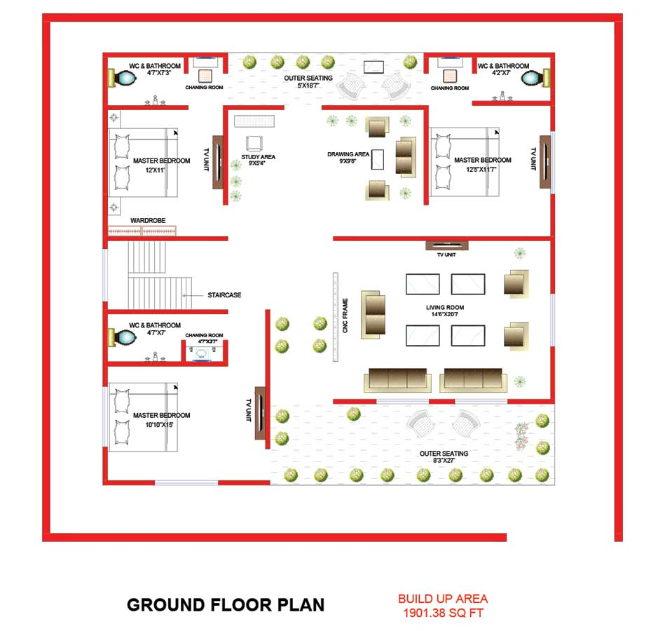 design-centre-institute-of-crativity-and-innovation-student-work-civil-and-interior-deign-floor-plan-2-in-autocad-by-ajay-patidar