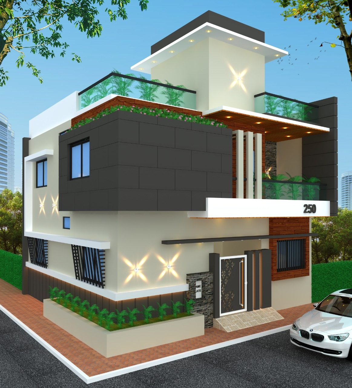 design-centre-institute-of-crativity-and-innovation-student-work-civil-and-interior-deignhouse-design-in-autocad-and-3dsmax-by-shubham