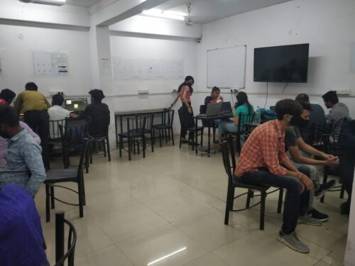 Fashion Designing Practical Class of Student
